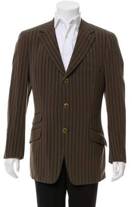 Gianni Versace Striped Three-Button Sportcoat