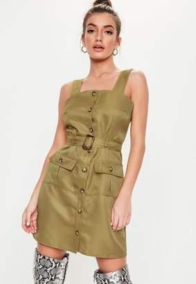 af676509032 Missguided Khaki Strappy Utility Dress