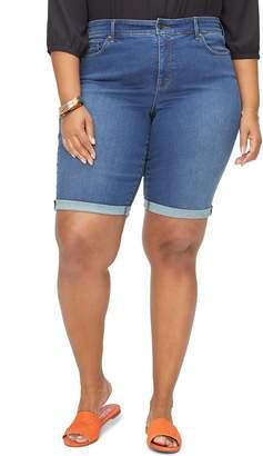 NYDJ Briella High Waist Denim Bermuda Shorts