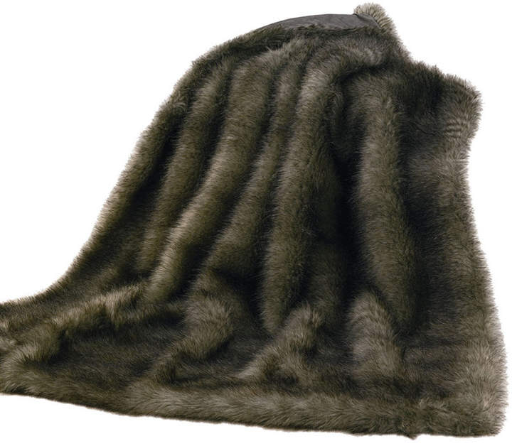 Hiend Accents Chinchilla Faux Fur Throw