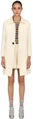 L'Autre Chose Double Wool Crepe Coat