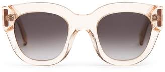 Reiss Cleo - Monokel Eyewear Acetate Sunglasses in Champagne
