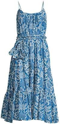 Rhode Resort Lea Belted Floral Cotton Dress