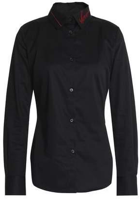 Love Moschino Embroidered Cotton-Poplin Shirt