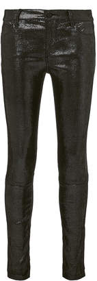 RtA Metallic Skinny Leather Pants