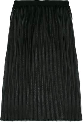 Dondup layered pleated skirt