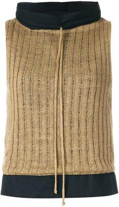 Maison Margiela ladder stitch knit sleeveless top