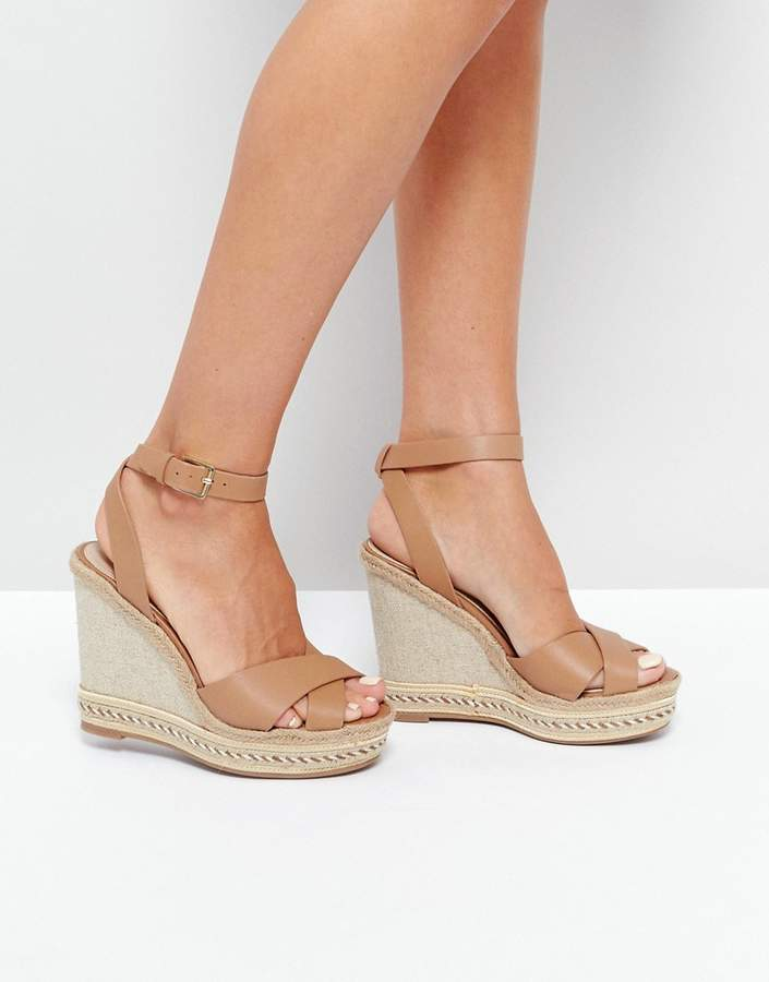 ALDO Clodia Tan Espadrille Wedge Sandals