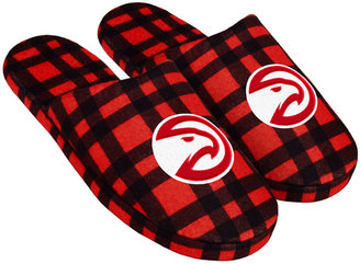 Forever Collectibles Atlanta Hawks Flannel Slide Slippers $29.99 thestylecure.com