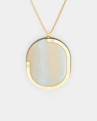 Lafayette 148 New York Long Oval Opalescent 37In Necklace