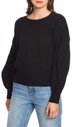 1 STATE 1.STATE Crewneck Blouson Sleeve Cotton Blend Sweater