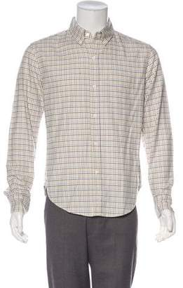Band Of Outsiders Check Pattern Button-Up Shirt