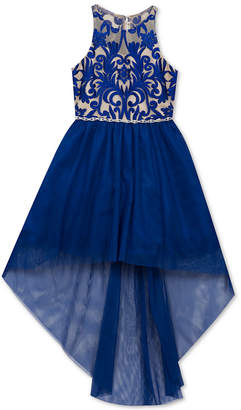 Rare Editions Big Girls Embroidered High-Low Hem Party Dress