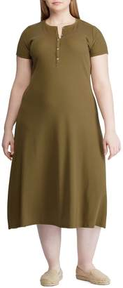 Lauren Ralph Lauren Plus Henley Midi Dress
