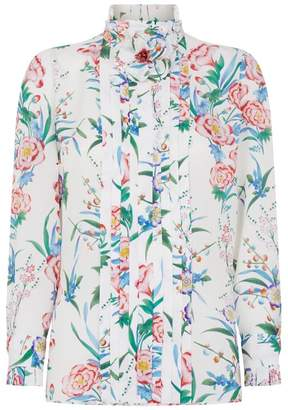 Andrew Gn Silk Floral Shirt