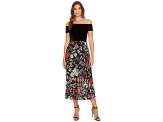 Donna Morgan Off Shoulder Maxi Dress with Pleated Skirt Women's Dress