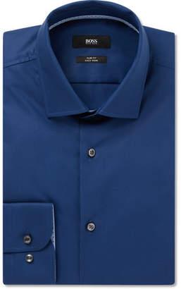 Navy Slim-Fit Jesse Cotton-Poplin Shirt