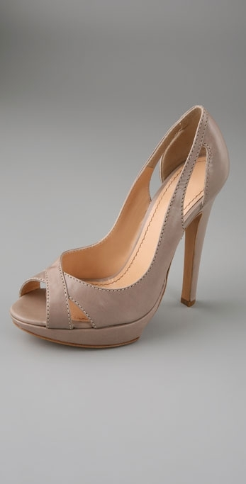 Pollini Open Toe High Heel Platform Pumps