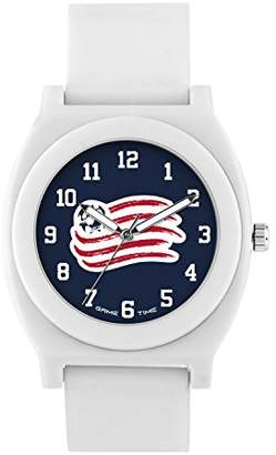 Game Time ' Fan White' Quartz Plastic and Rubber Casual Watch