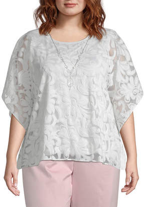 2b38534af9 Alfred Dunner Society Page Scroll Layered Blouse - Plus