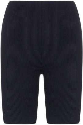 N. Duo ribbed cotton-blend pedal pusher shorts