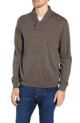 Nordstrom Cotton & Cashmere Shawl Collar Sweater
