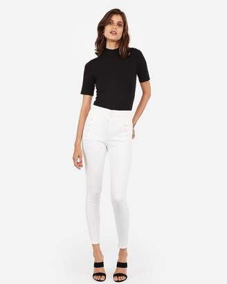 Express Mock Neck Cut-Out Tie Back Tee