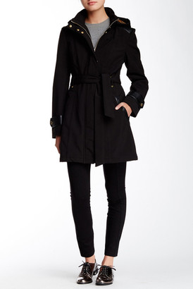 Via Spiga Belted Softshell Coat $210 thestylecure.com