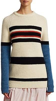 Calvin Klein Women's Textured Stripe Wool Sweater