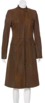 Emporio Armani Long Leather Coat