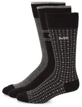 Michael Kors Three-Pack Logo Mid-Calf Socks