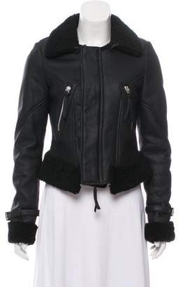 Barbara Bui Shearling Zip-Up Jacket w/ Tags