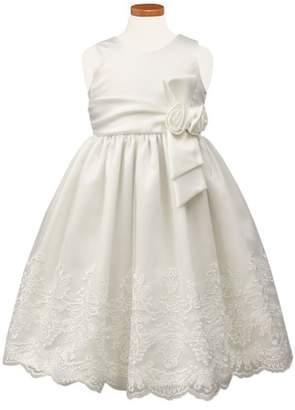 Sorbet Embroidered Satin Dress