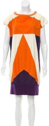 Issey Miyake Colorblock Mini Dress