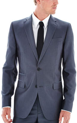 Jf J.Ferrar JF Gray Luster Herringbone Suit Jacket - Slim Fit