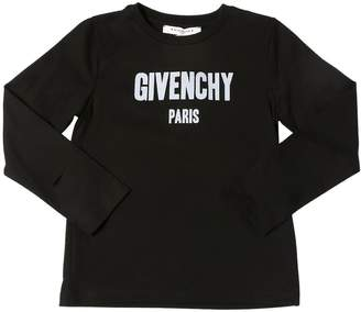 Givenchy Logo Print Jersey Long Sleeve T-Shirt