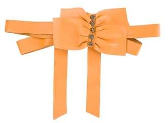 Mayle Bow Accent Leather Waist Belt.