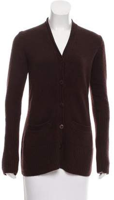 Donna Karan Cashmere Button-Up Cardigan
