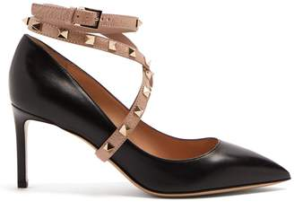Valentino Studwrap leather pumps