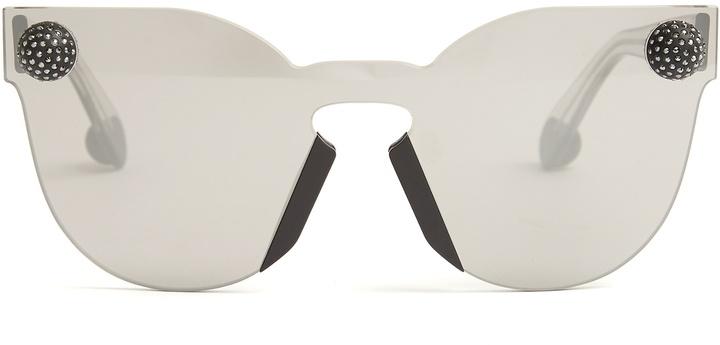 Christopher KaneCHRISTOPHER KANE Bumper rimless cat-eye sunglasses