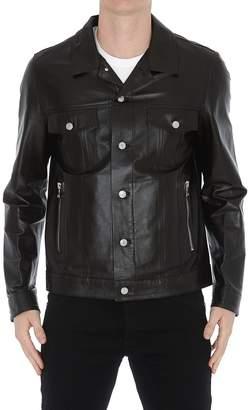 Logo Leather Jacket