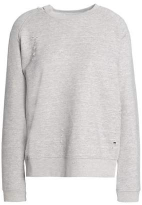 Zoe Karssen Mélange French Cotton-Blend Terry Sweatshirt