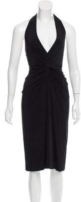 DSQUARED2 Halter Neck Midi Dress