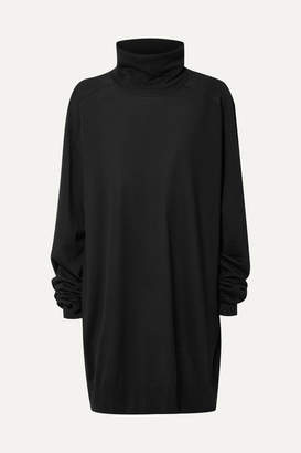 Maison Margiela Oversized Wool Turtleneck Sweater - Black