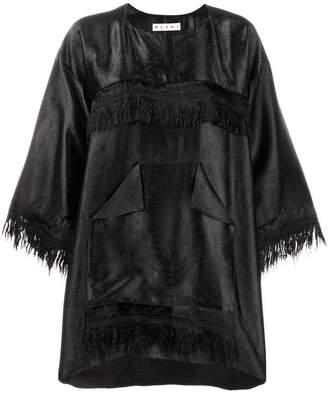 Marni oversized fringe blouse