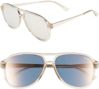 Quay Under Pressure 58mm Aviator Sunglasses