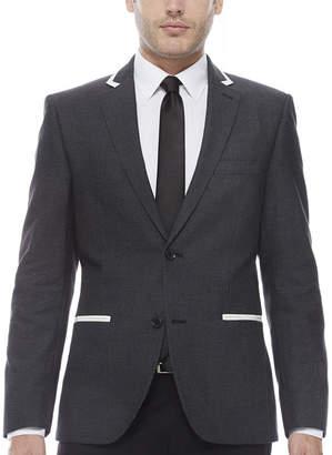 Co THE SAVILE ROW The Savile Row Company Slim Fit Black Pindot Sport Coat