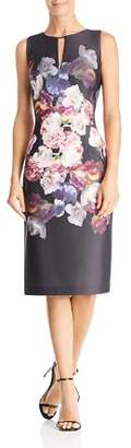 Adrianna Papell Tumbling Rose Scuba Dress