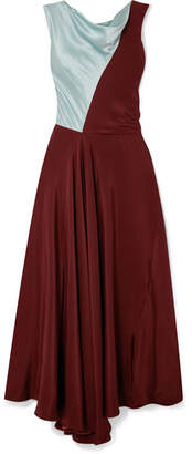 Roksanda Iliana Paneled Silk-satin Dress - Burgundy