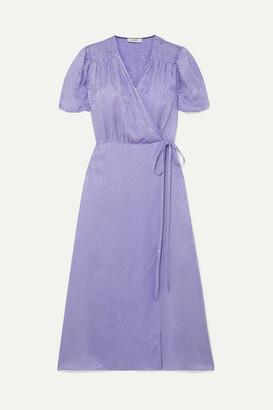 Art Dealer Marge Silk-jacquard Wrap Dress